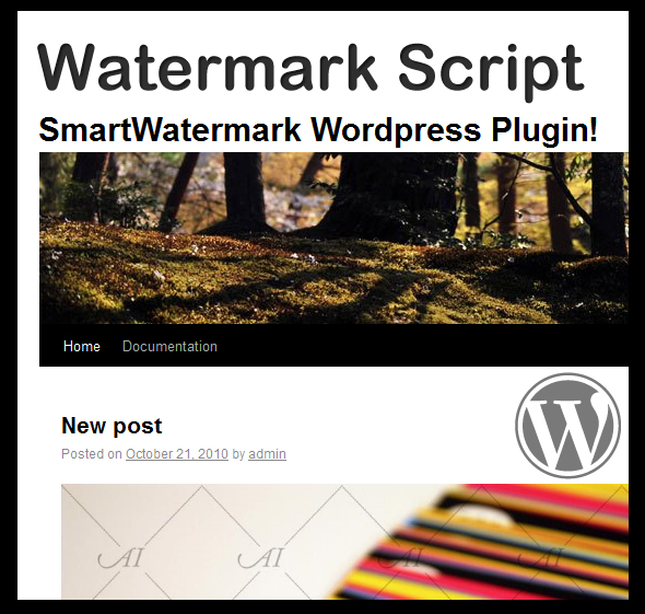 smartWatermark – wordpress plugin CodeCanyon