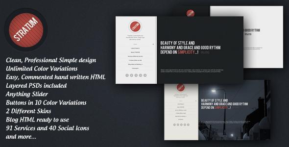 Stratum – HTML single page Template 2012