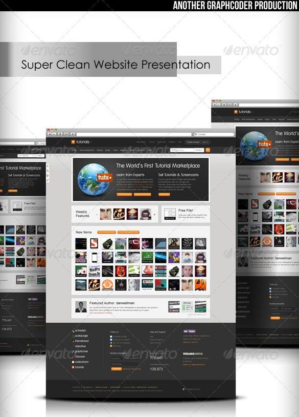 Super Clean Web Mock-Up GraphicRiver