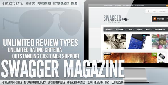 SwagMag v1.11 – WordPress Magazine/Review Theme 2012 Themeforest