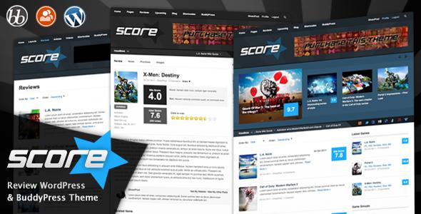 Themeforest – Score: Review WordPress & BuddyPress Theme Version 1.9.6