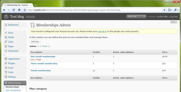 WP-Membership Plugin CodeCanyon