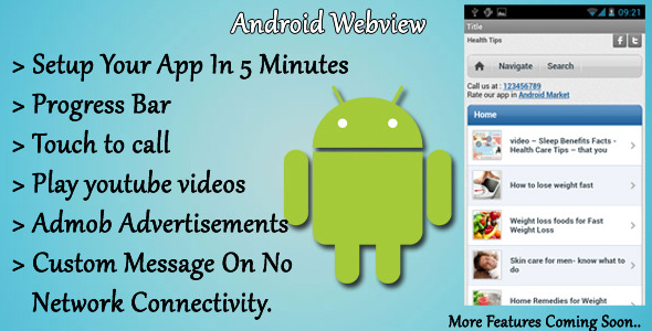 2012 Android Webview With Progress bar and admob ads CodeCanyon
