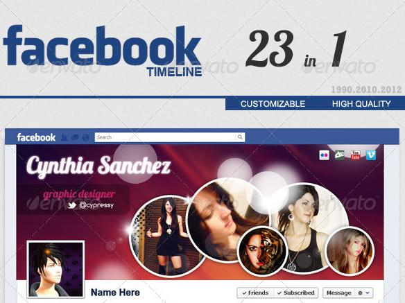 2012 Facebook Timeline Cover FULL 23 in 1 – GraphicRiver