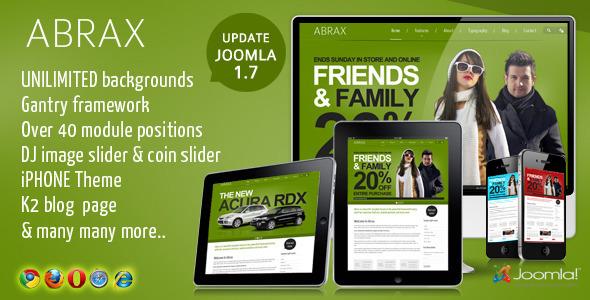 Abrax Template for Joomla 1.7