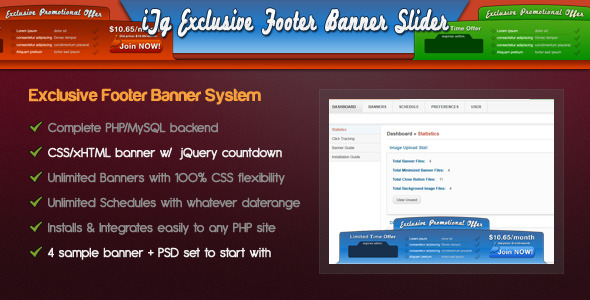 Codecanyon PHP Exclusive Footer Banner Slider System Full Latest Version Nulled