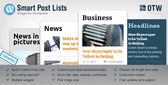 CodeCanyon Smart Post Lists Widget for WordPress