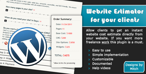 CodeCanyon Website Cost Estimator for Your Clients – WP