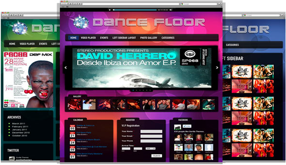 GorillaThemes – Dance Floor DJ WordPress Theme
