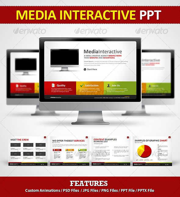 GraphicRiver Media Interactive PPT – Power Point