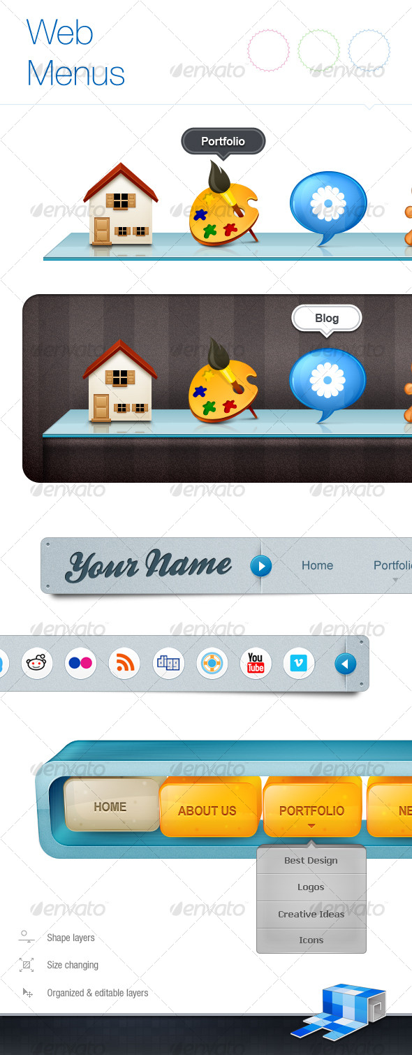 GraphicRiver – New Web Menu