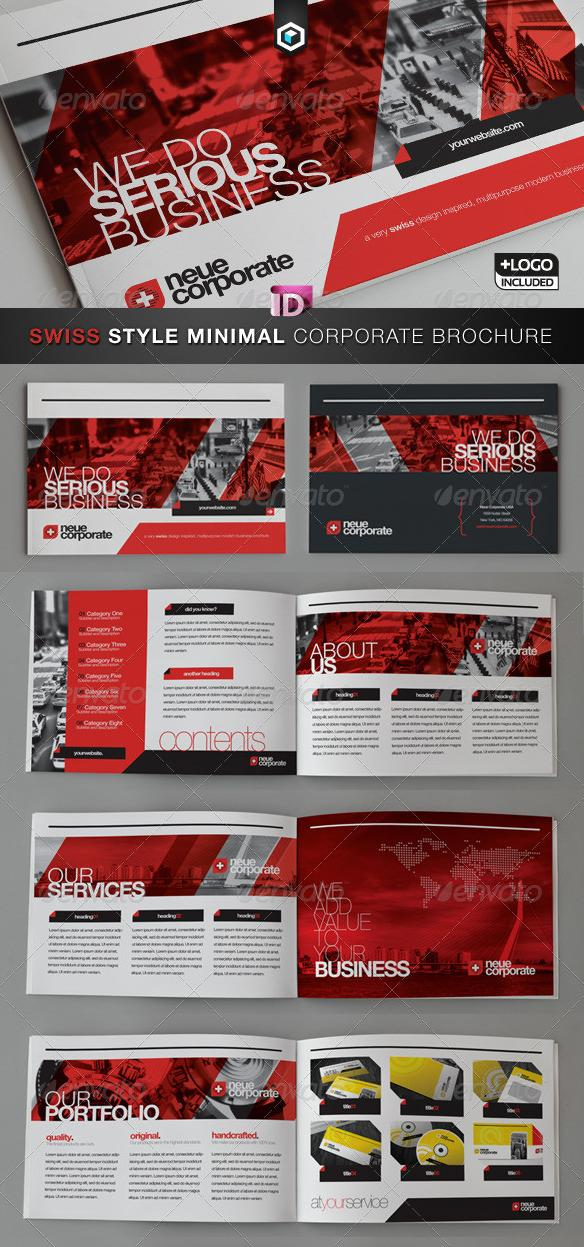 GraphicRiver RW Swiss Style Corporate Brochure – Catalog 2012