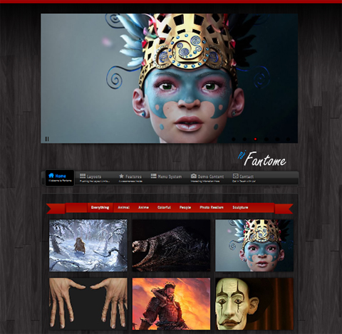PureJoomla Fantome for Joomla 2.5 templates 2012