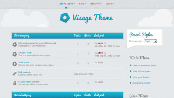 Rockettheme – Visage v1.0 for phpBB3