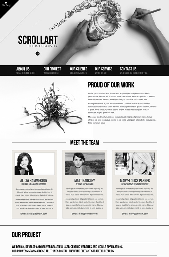 Scrollart Joomla 2.5 Template 2012 – TemPlaza