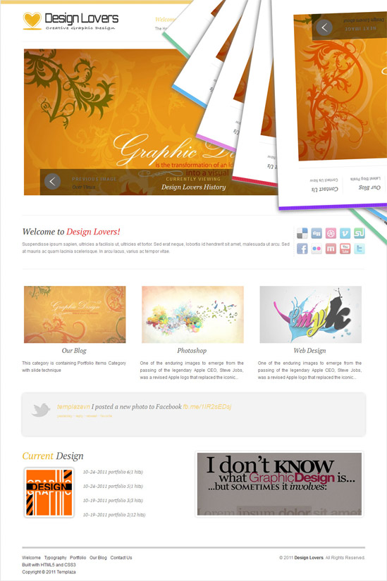 TemPlaza Design Lovers V1.2 Joomla 1.7 template