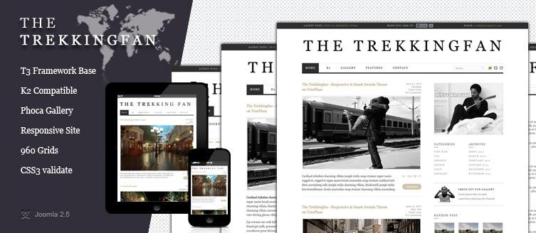 TemPlaza – The Trekkingfan Joomla 2.5 responsive template 2012