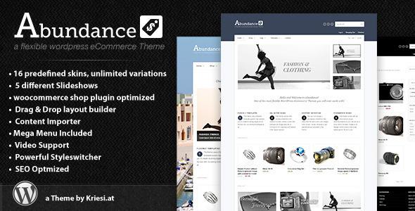 ThemeForest Abundance eCommerce Business WordPress Theme V1.3