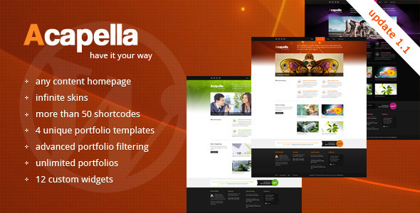 ThemeForest Acapella WordPress Theme v1.1