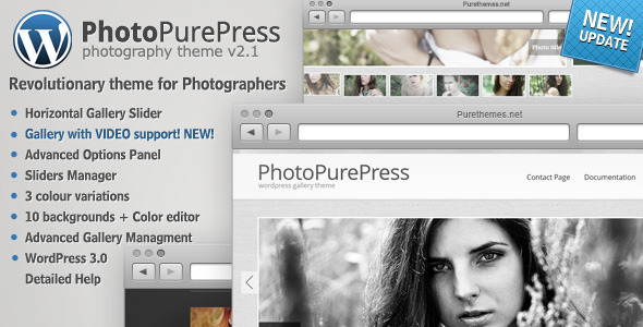 ThemeForest PhotoPurePress – WordPress for Photographers Theme