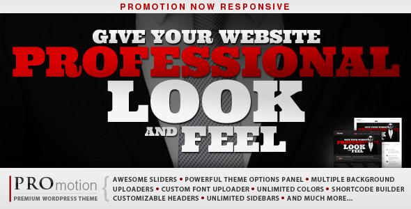 ThemeForest ProMotion Responsive WordPress Theme V2.1