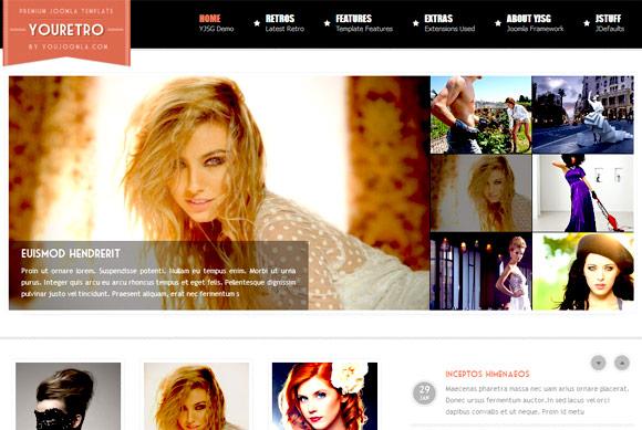 YouJoomla YJ YouRetro – Joomla! 2.5 Magazine Template 2012