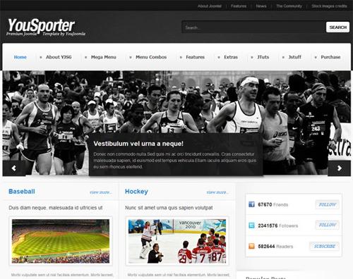 YouJoomla Yousporter Joomla 2.5 Sport Magazine Template