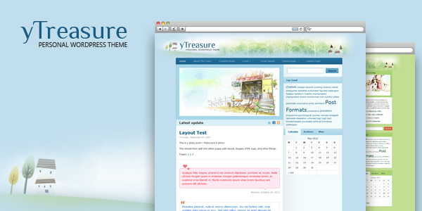 yTreasure 1.0.1 – Personal WordPress Theme