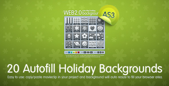ActiveDen – 20 Autofill Holiday Backgrounds AS3