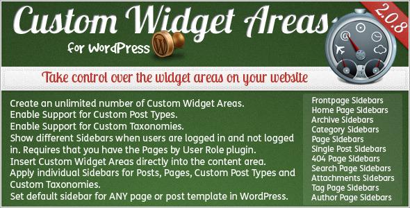 CodeCanyon – Custom Widget Areas for WordPress v2.0.8