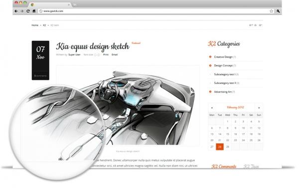 Gavick The Real Design v2.9.1 Neat Portfolio Joomla 2.5 template
