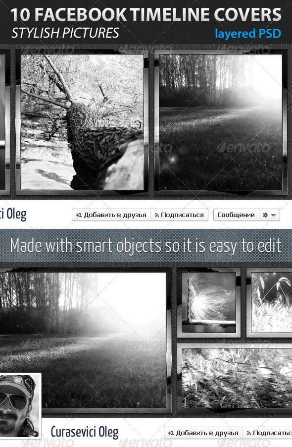 GraphicRiver – 10 Facebook Timeline Covers 2012