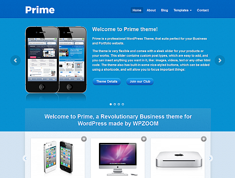 Prime v1.1.3 – WPZoom WordPress Theme