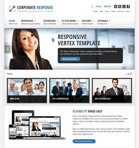 Shape5 Corporate Response – June 2012 Joomla 2.5 Template