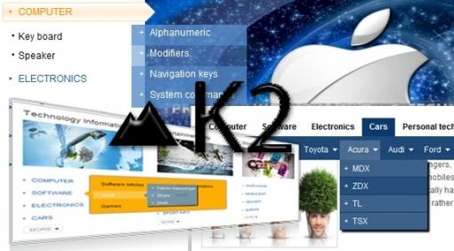 SJ K2 Categories II – Joomla! Module For J1.7 & j2.5