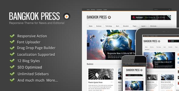 ThemeForest Bangkok Press v1.0.5 – Responsive, News & Editorial WordPress Theme