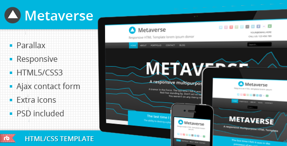 ThemeForest Metaverse – Responsive Parallax Template