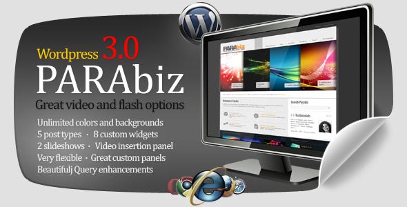 ThemeForest Parabiz 1.1 – Premium WordPress Theme