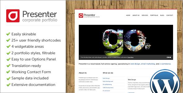 ThemeForest Presenter WP v1.0.3 – Corporate Portfolio WordPress Theme