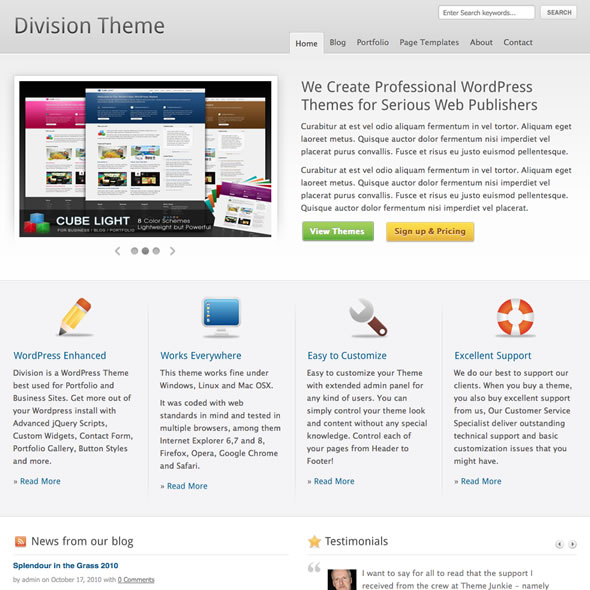 ThemeJunkie – Division 1.0.5 Premium WordPress Theme