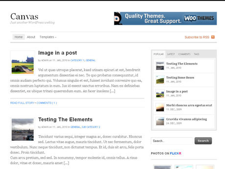 WooThemes – Canvas v5.0.0 for WordPress Theme 2012