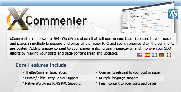 xCommenter WordPress Auto Comment SEO Plugin