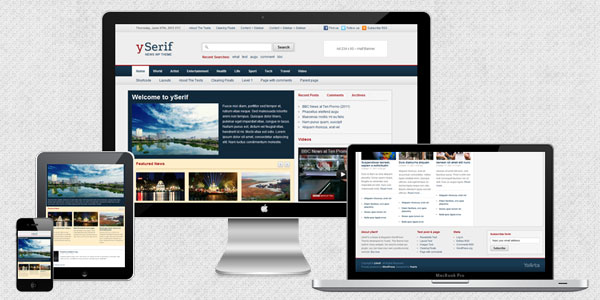 YoArts ySerif 2.0.0 – Responsive News & Magazine WordPress Theme