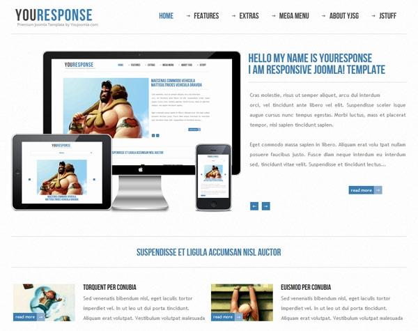 YouJoomla Youresponse – Responsive Joomla 2.5 Template 2012