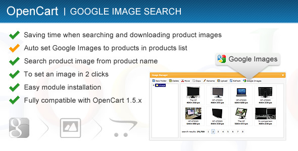 Codecanyon – Google Image Search for OpenCart 1.5.x