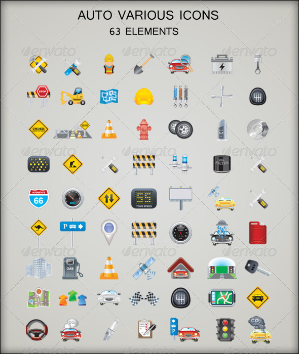 GraphicRiver – Auto Various Icons