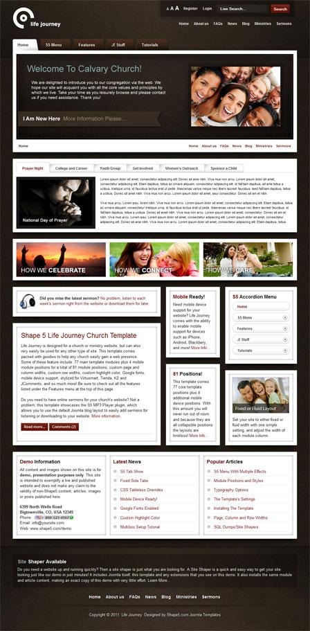 Shape5 Life Journey Joomla 2.5 Template