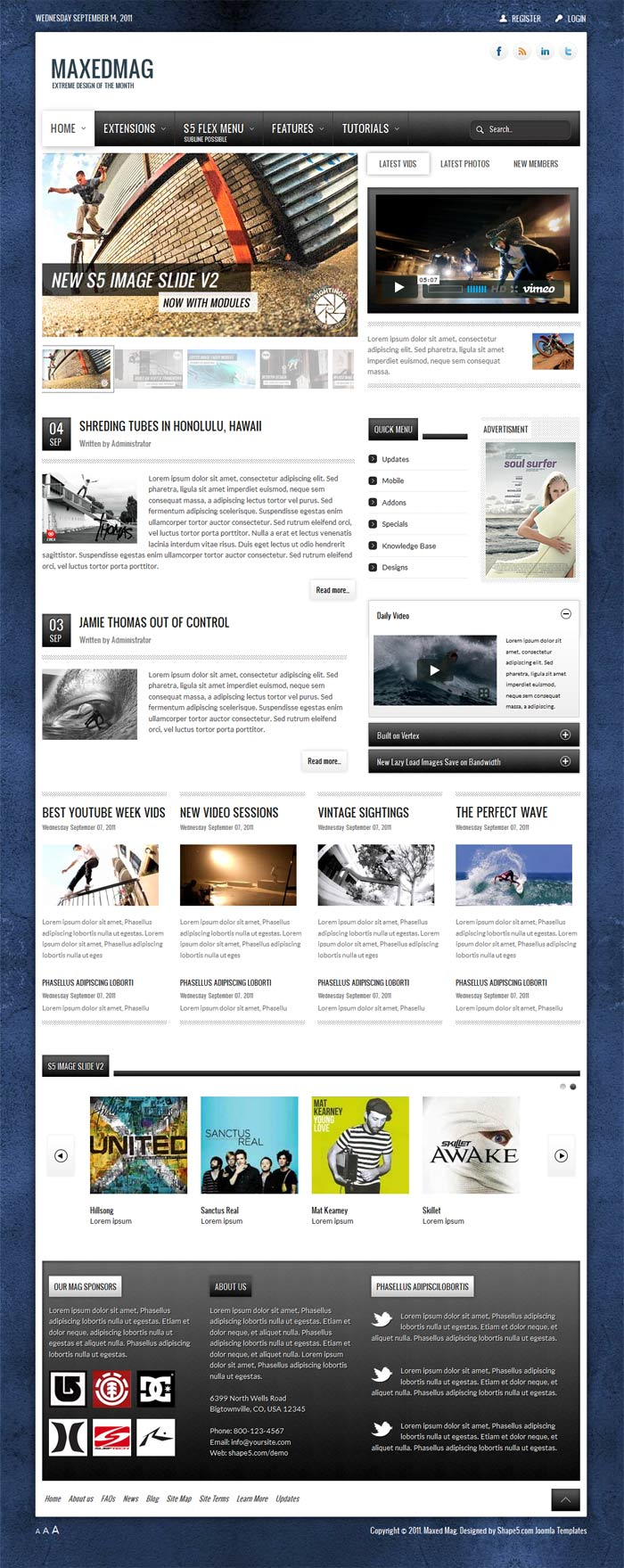 Shape5 Maxed Mag for Joomla 2.5 template