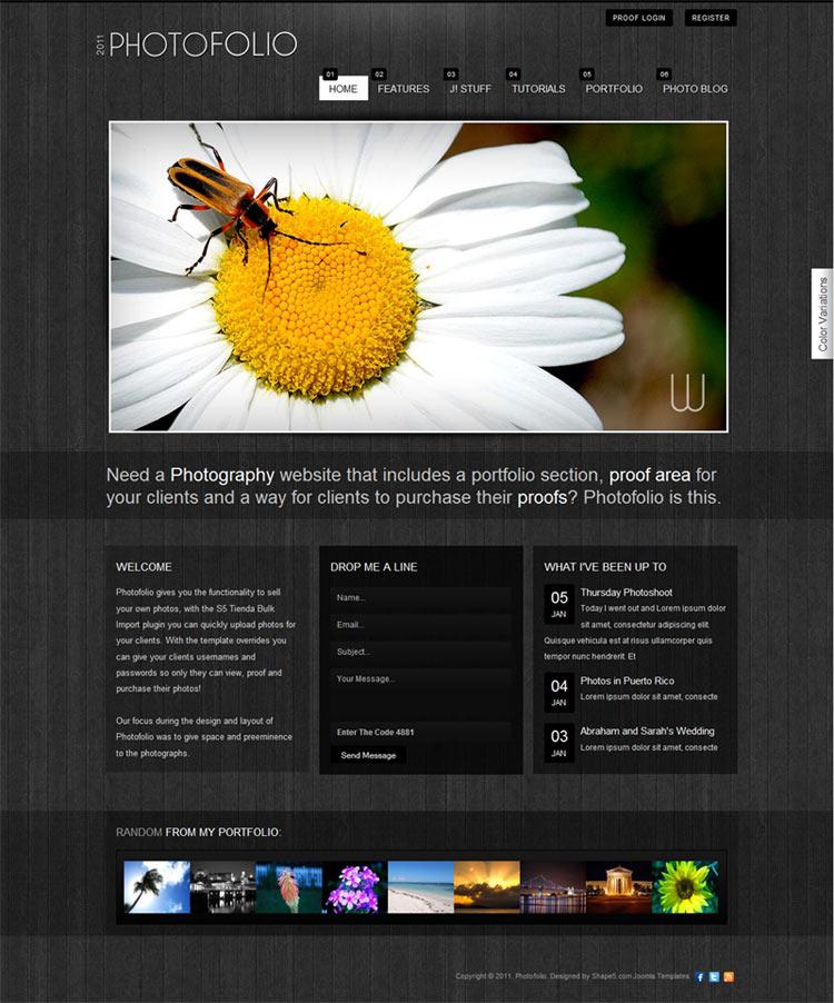 Shape5 Photofolio 1.0 for Joomla 2.5 Template