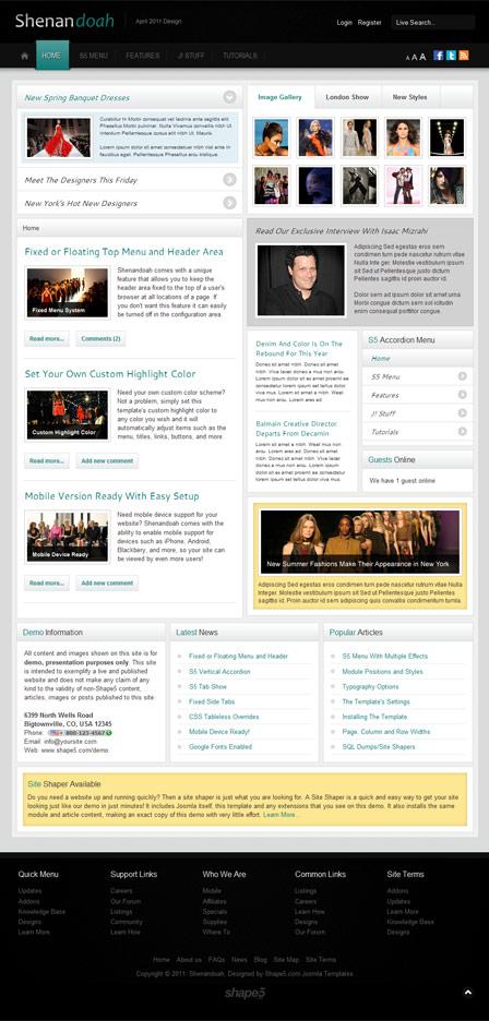 Shape5 Shenandoah Joomla 2.5 template
